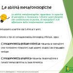 Le abilità metafonologiche